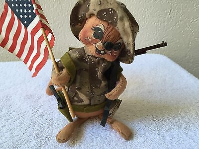"""Annalee Dolls 7""""  Military Soldier Mouse item, 1991 USA"""