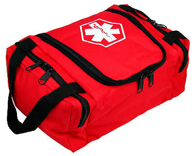 "Dixie Ems First Responder Emt Jump Trauma Bag - Red 10.5""x 5"" X 8"""