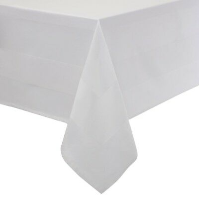 Satin Band Tablecloth White 137cm Cotton Tablecover Oilcloth Restaurant