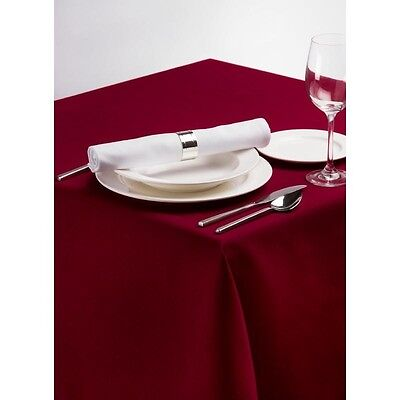 Palmar Polyester Burgundy Tablecloth Linen Tablecover Oilcloth Restaurant