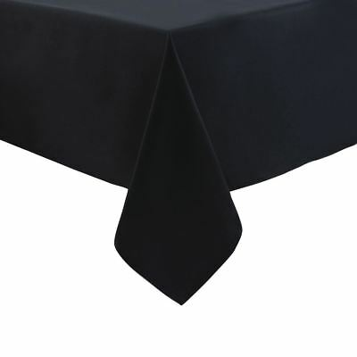 Palmar Polyester Tablecloth Black 90in Kitchen Cafe Cleaning Towel Slipcloth
