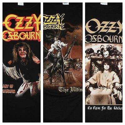 Ozzy Osbourne Diary Of A Madman The Ultimate Sin No Rest For The Wicked T-Shirts