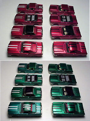 MODEL MOTORING T-JET CANDY PAINTED MUSTANG  BODIES .