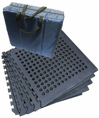 AWNING EVA FLOOR TILE MAT STORAGE BAG with 12 TILES + all edges with HOLES