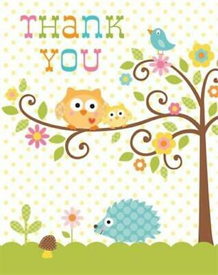 Baby Shower Thank You Cards 8 Pack Happi Tree