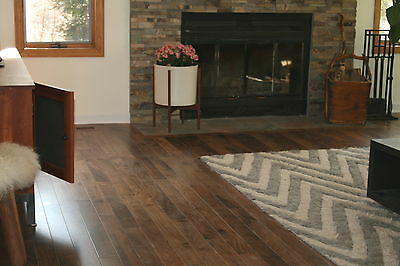 "3-1/4"" Prefinished Solid Character Black Walnut Wood Hardwood Flooring Sample"