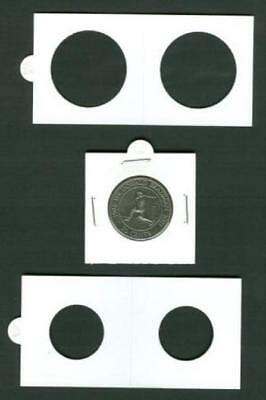 50 LIGHTHOUSE 27*5mm STAPLE TYPE 2x2 COIN HOLDERS - Suit Half Penny & $1
