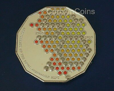 2015 50c Coin 50th Anniversary of the Royal Australian Mint Colour UNC in card
