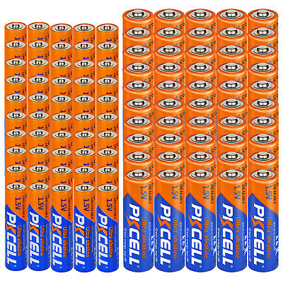 (100 Piece combo pack) PKCELL 1.5V Industrial Alkaline- 50 AA+ 50 AAA Batteries