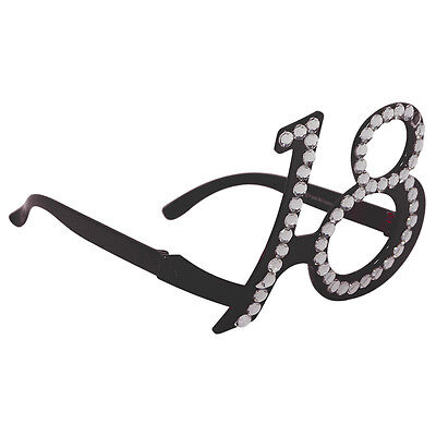 18Th Birthday Age Spectacles Glasses Specs - Black