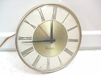 "Westclox Electric Movement White Case Wall Clock 7.5""D"