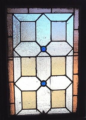~ ANTIQUE AMERICAN STAINED GLASS WINDOW ~ 24.5 x 33 ~ ARCHITECTURAL SALVAGE ~