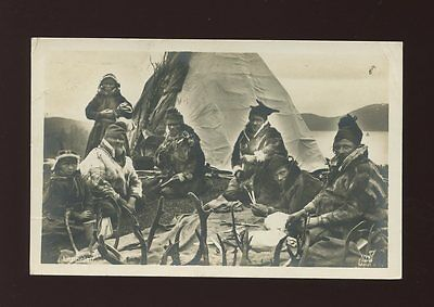 Norway LAPPELEIR family group with antlers Used 1935 RP PPC