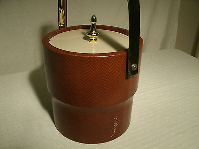 VINTAGE MORGAN ICE BUCKET RED ALLIGATOR MADE IN USA