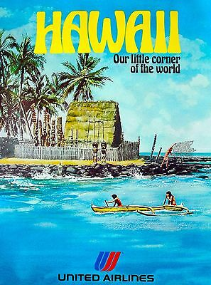 Hawaii Our Little Corner United States Vintage Travel Advertisement Art Poster