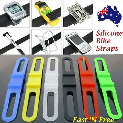 Bike Bicycle Cycling Silicone Elastic Bind Strap Mount Holder for Lights Phone