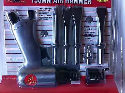 New 150Mm Air Hammer With 4Pcs Chisel  Auto Home Repair