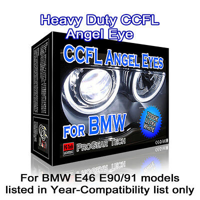 BMW CCFL Angel Eyes Halo Rings 7000K White E46 E90 E91 Non-Projector Headlights