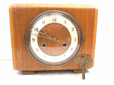 "Perivale Walnut  Case Striking Mantel Clock 9.5""L 8""H 4""W"