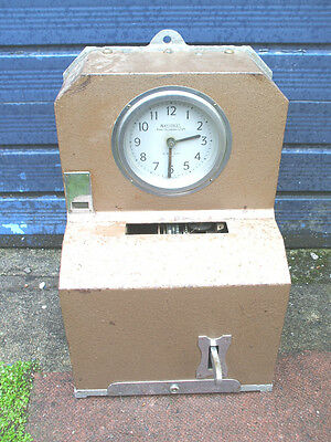 National Time Recorder Ltd Metal Case Clocking In Clock