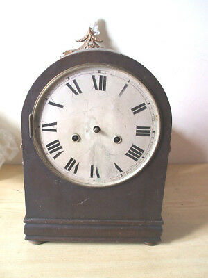 "Oak Case Mantle Clock For Spare/Repair 12""H 9""W"