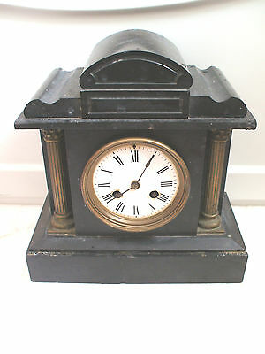 "Marble Mantle Clock Case & French Striking Movement For Spares/Repair 11""H 10""W"