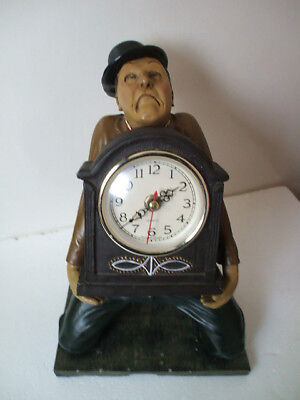 "Laurel & Hardy Novelty Quartz Mantle Clock 12""H 8""L 8""D"