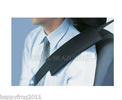 Plain BLACK Car Vehicle Safety Seat Belt Shoulder Pad Cover Cushion Harness