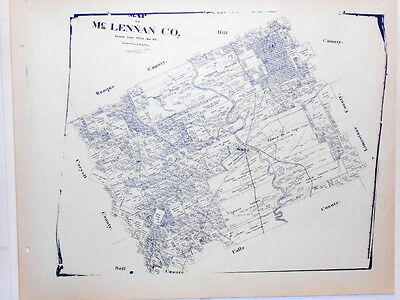 Old McLennan County Texas Land Office Owner Map Waco Hewitt Gurly Bruceville