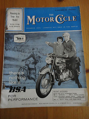 """Vintage """"the Motorcycle"""" November 23 1961 Bsa Centary Free Ship To Us And Canada"""