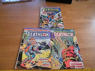 Astonishing Tales comic book lot 28 31 32 Bronze Age 1970s VG-F-VF Deathlok