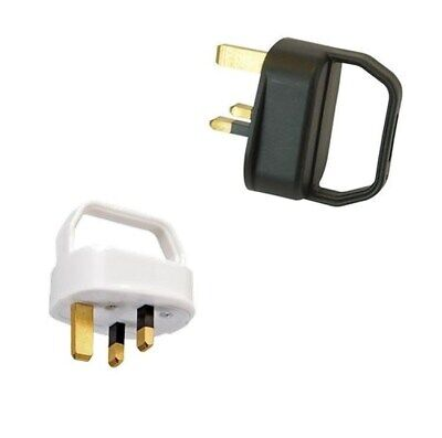 13Amp Plug Top With Easy Pull Handle Black Or White Mains