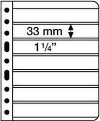 Pack of 5 Vario 7 Strip Black Double Sided Stamp Pages