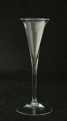 antique 18th Century Wine Glass, Toasting stem glass, ca.1750, 20 cm / 7.8 inch