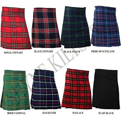 Children's Boy's Kid's Scottish Tartan Kilts 100% Acrylic Kilt AGE: 1 - 14 Years