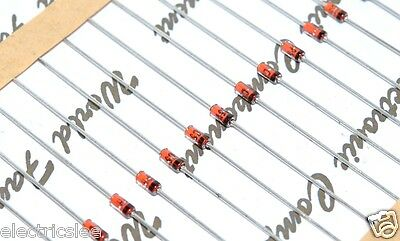 10pcs - PHILIPS BZX79 51V 0.5W Axial Zener Diode - Rectifiers