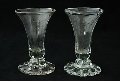 Antique 18th Century 2x Jelly Glass, ca.1730, panel-moulded & doomed foot