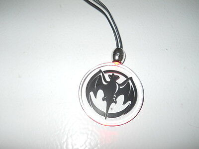 4 New Bacardi Rum Bat Necklace Lighted Glows Red