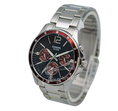 -Casio MTP1374D-5A Men's Metal Fashion Watch Brand New & 100% Authentic