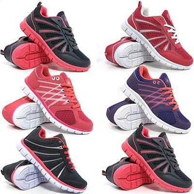 Ladies Running Trainers Womens Air Shock Absorbing Fitness Gym Sports Shoes Size