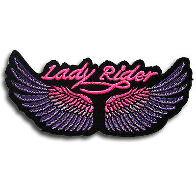 Lady Rider Wings Patch Iron on Harley Chopper Biker Motorcycle Rider Vest V2