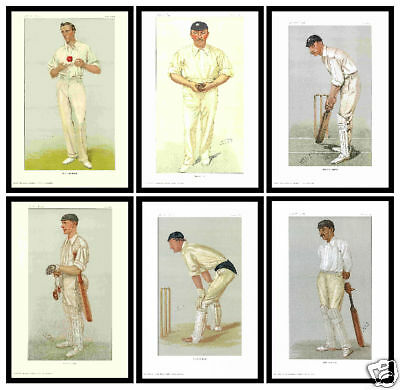 Cricket - Vanity Fair Prints - A Set Of 6  Fantastic  Cricketers  ( Reprints )