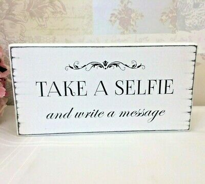 TAKE A SELFIE Photo Booth Wedding sign Free Standing Vintage Wedding