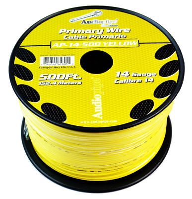Pet Dog Fence Wire 14 GA 500 FEET YELLOW InGround Fence Burial Boundary