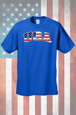 Men's T-Shirt USA Flag Pride Stars & Stripes Proud To be an American Old Glory