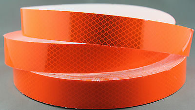 3M Fluro Orange (4084) Diamond Grade Class 1 Reflective Tape 30mm x 45.7m