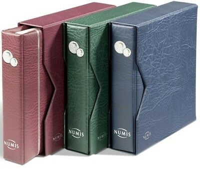 Numis Coin-Banknote Album & Slip Case contains 5 acid free pages for 143 coins
