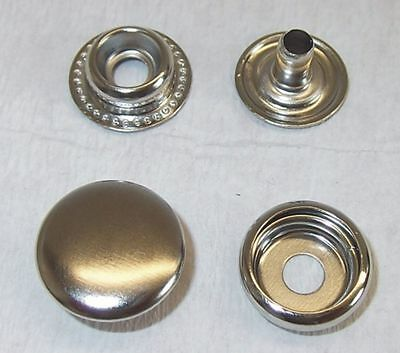 10 Poppers ! stainless ! 15mm silver Annular spring 10mm