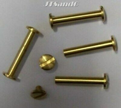 4 New Brass Post & Screws 30mm for Renniks & VST Albums