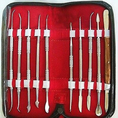 Dental Lab Stainless Steel Kit Wax Carving Tool Set Instrument Styles Bid Hot!!
